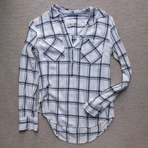 A New Day (Target) Windowpane Button Up - XS